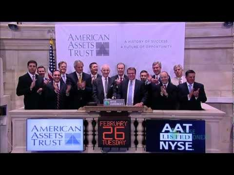 American Assets Trust Visits the NYSE