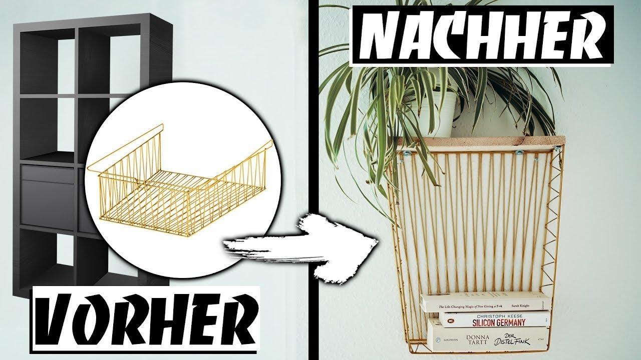 ikea upcycling kleines regal aus kallax drahtkorb gewinnspiel easy alex youtube. Black Bedroom Furniture Sets. Home Design Ideas