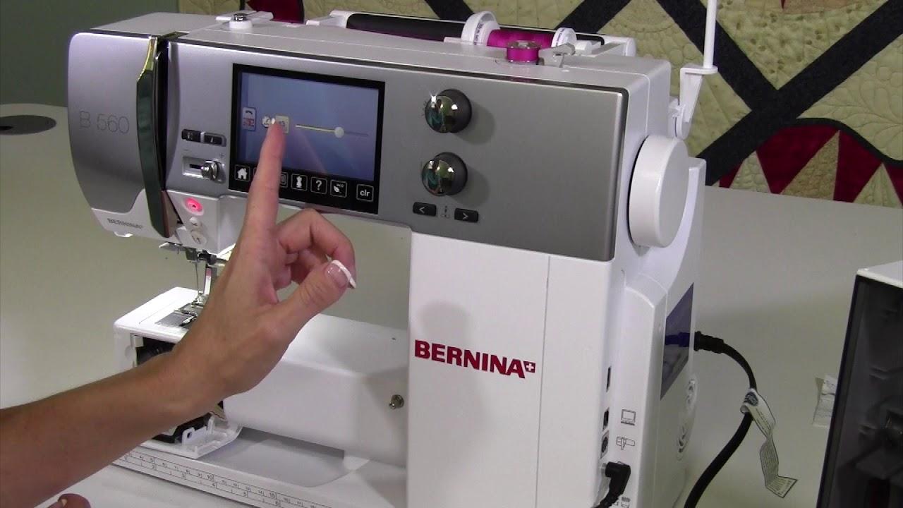 Bernina 560 4 Threading & Winding a Bobbin