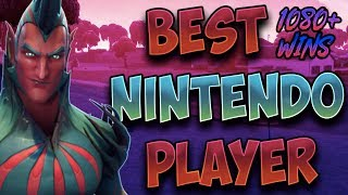 Fortnite Best Nintendo Switch Player 1070+ Wins! (Solo 20 Bombs & Duos With Members)