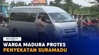 Warga Madura Protes Penyekatan Suramadu