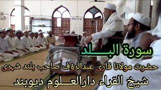 Qari Abdur Rauf Sahab Qasmi قاری عبد الرؤف صاحب قاسمی