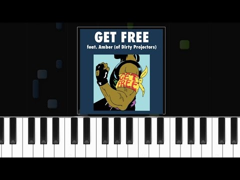 "Major Lazer - ""Get Free"" Piano Tutorial - Chords - How To Play - Cover"