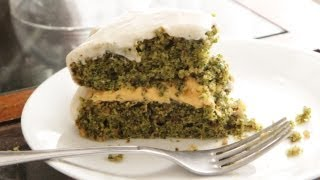 Kale Cake Recipe - Vegan Dessert Baking - Sweet Potato Filling - Cream Cheese Buttercream
