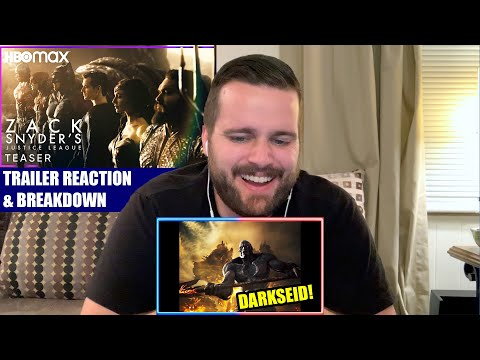 ZACK SNYDER'S JUSTICE LEAGUE TRAILER REACTION AND BREAKDOWN!