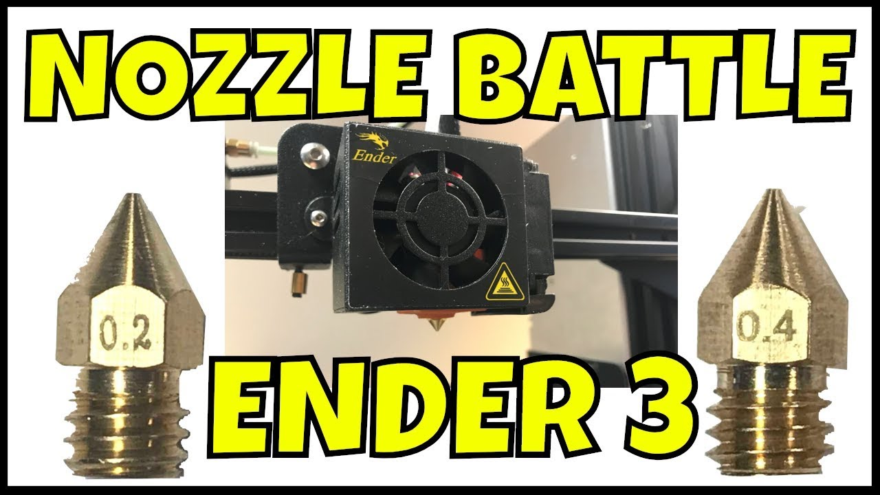 ENDER 3 - 3D Print Fine Detail Using Smaller Nozzle