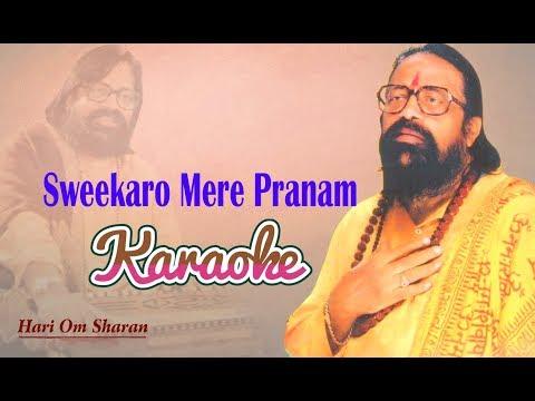 Sweekaro Mere Pranam Karaoke Hindi Lyrics Hari Om Sharan Pushpanjali Premanjali