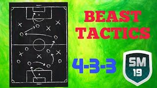 AMAZING TACTICS FOR SM19 (4-3-3 Variation) | BEST TACTICS | Soccer Manager 19