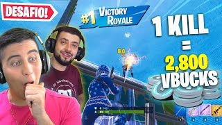 Défi 1 Kill 1000 Vbucks à Fortnite avec Sherby
