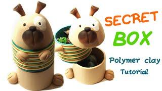 Polymer clay secret Dog box- Tutorial