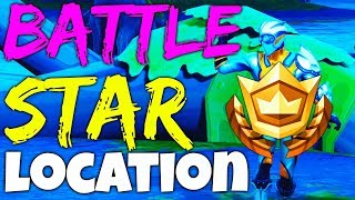 Fortnite BATTLE STAR LOCATION Week 4 Search between a Bench, Ice Cream Truck, and a Helicopter S4