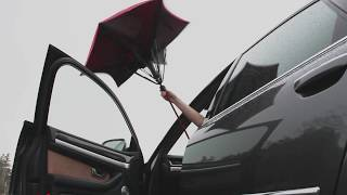 「濡れない」にこだわった傘、スマートな動きで雨の日をサポート