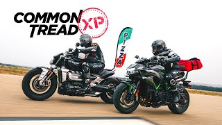 World's Fastest Pizza Delivery? Kawasaki Z H2 vs. Triumph Rocket 3 | CTXP