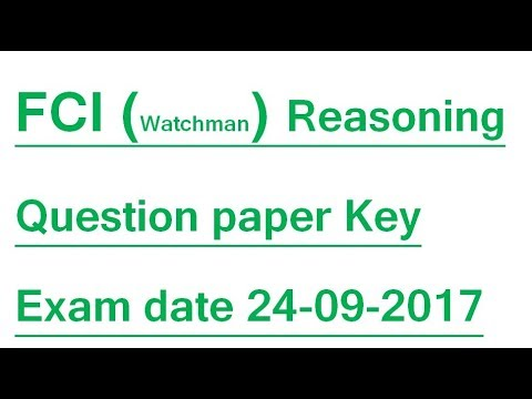 Question paper pdf fci