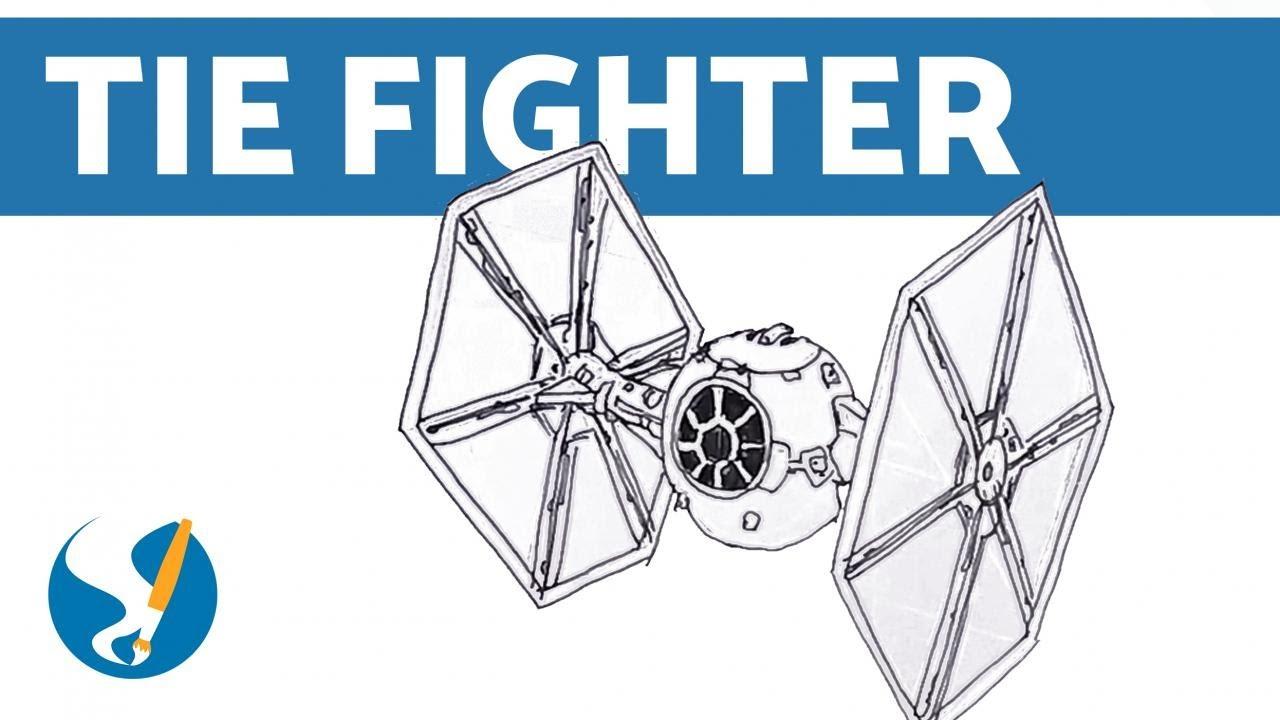 Cómo Dibujar Naves De Star Wars Tie Fighter Youtube