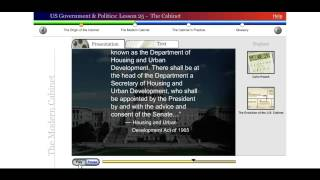 Saylor POLSC231: US Government & Politics: Lesson 25 - The Cabinet