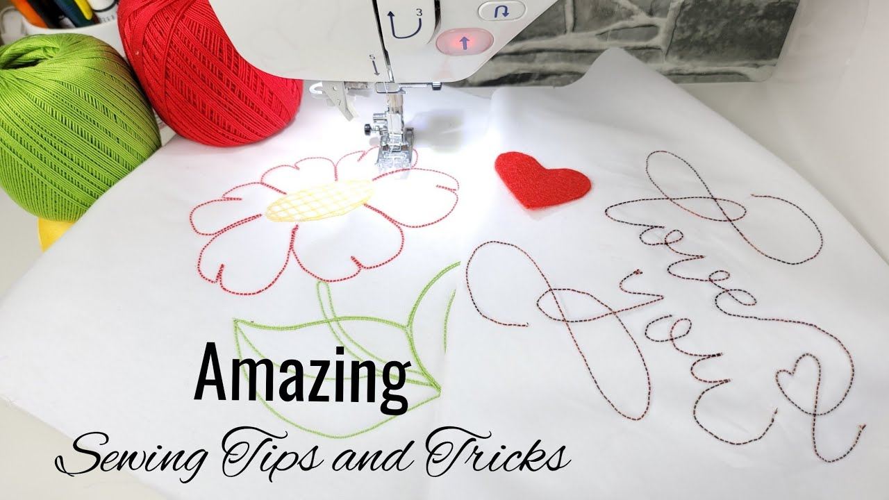 Amazing Sewing Tips and Sewing Techniques | Embroider on a home Sewing Machine | Sewing Hack #52