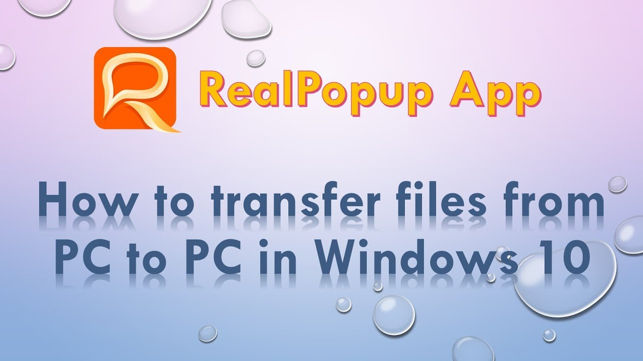Realpopup LAN chat. App to Share Files PC to PC. IM for office.