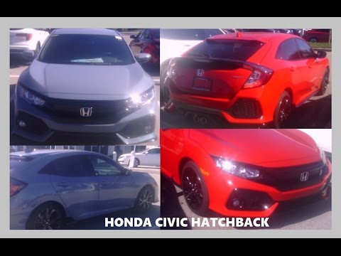 2017 Honda Civic Hatch LX Sport Car (Rallye Red Sonic Gray Pearl Cost Price Hatchback MSRP Review)