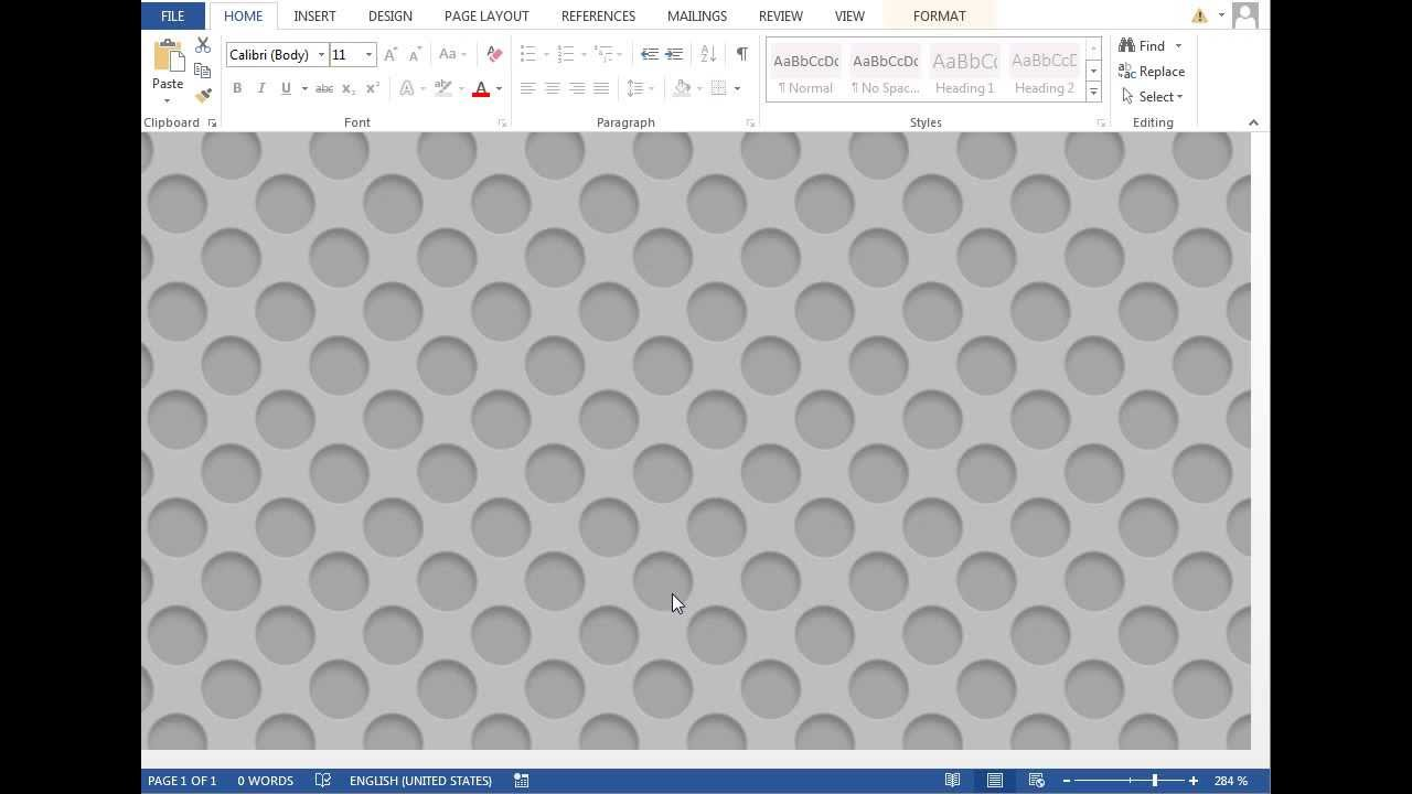 How To Make Speaker Grill Pattern In Microsoft Word 2013 Youtube