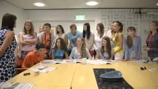Vitryska ungdomar besökte Smålänningens redaktion 11/7-13