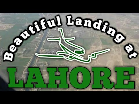 Beautiful landing at Lahore Airport Pakistan pk758