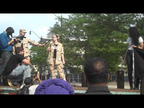 Rachel throws her medals back at IVAW NATO action