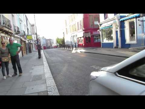 Evening Walk Down Portobello Road in London from the Notting Hill Gate end