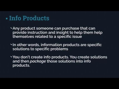 The Info Product Process – Product Creation Secrets Training Clip