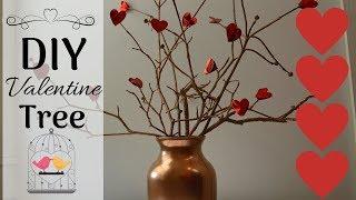 Valentine's Day DIY Idea I Valentine Heart Tree I V-Day Decor I #valentine #Vdaydecor #DIY