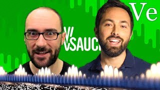 Vsauce messes with Veritasium