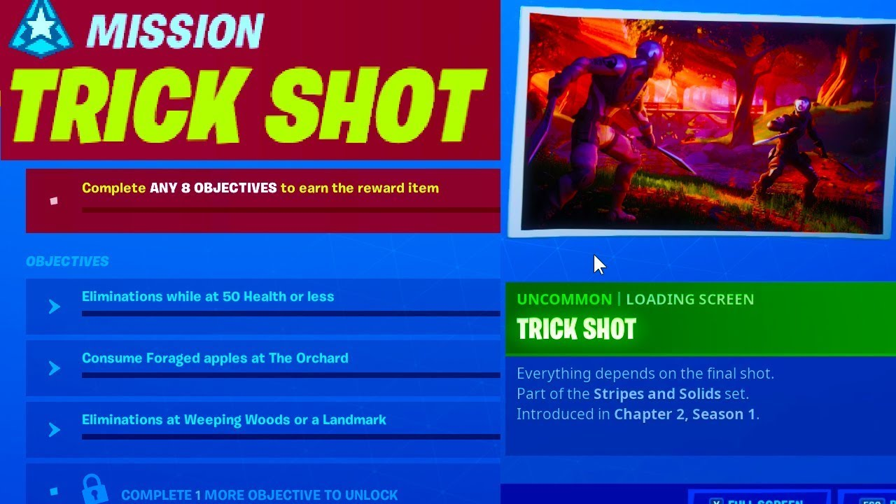 Week 7 Trick Shot Challenges Fortnite Chapter 2