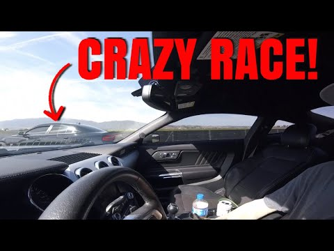 WE RACED THE 2019 SCATPACK VS MUSTANG GT!! **CRAZY**