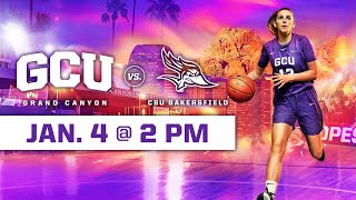 GCU Women's Basketball vs CSU Bakersfield January 4, 2020