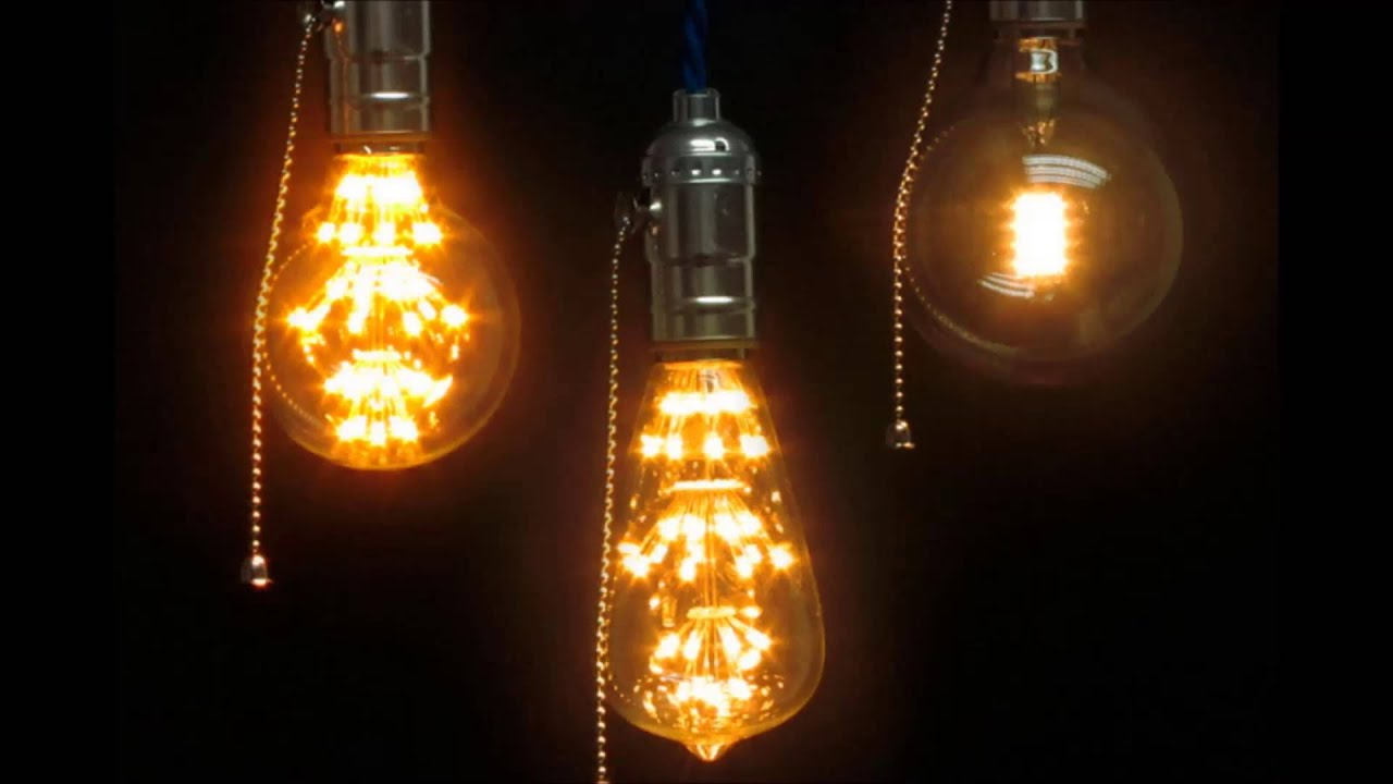 Ретро лампа Эдисона в интерьере