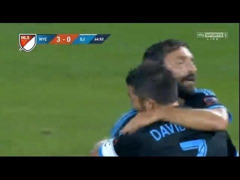 David Villa Goal | NEW YORK CITY vs San Jose Earthquakes  (3-0) 19.09.2015