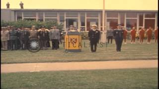 A German official delivers a speech prior to the 1972 Summer Olympic events being...HD Stock Footage