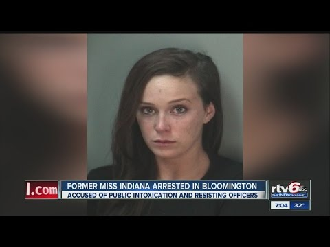 Miss Indiana 2013 arrested, accused of public intox, disorderly conduct, resisting officers