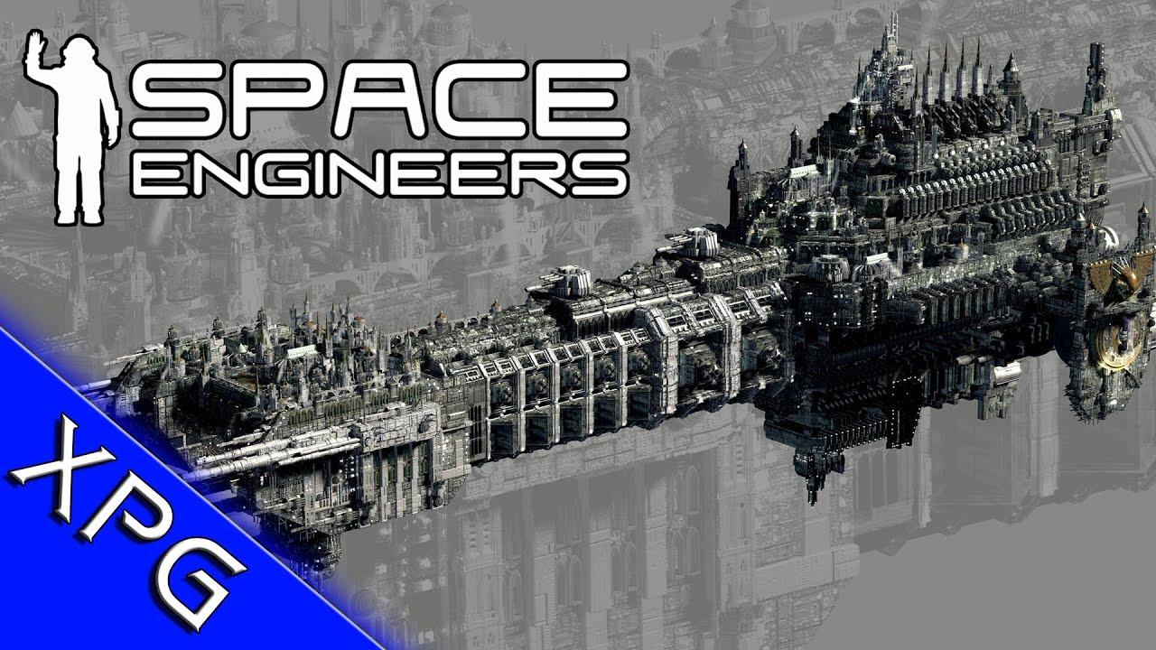Space Engineers :Warhammer 40k Battleship Thunderhawk dropship (Community  Build)