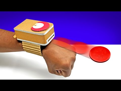 How To Make Amazing Cardboard Disc Shooter || Cardboard Diy At Home