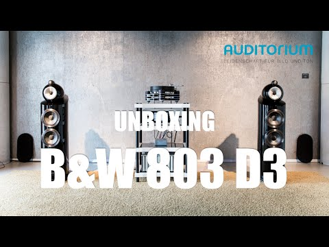 Unboxing Bowers & Wilkins 803 D3