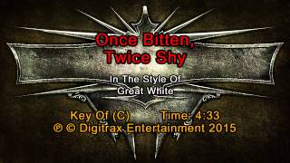 Great White - Once Bitten, Twice Shy (Backing Track)