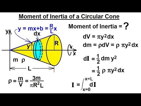 Physics - Mechanics: Moment of Inertia (5 of 7) Moment of Inertia of a Circular Cone