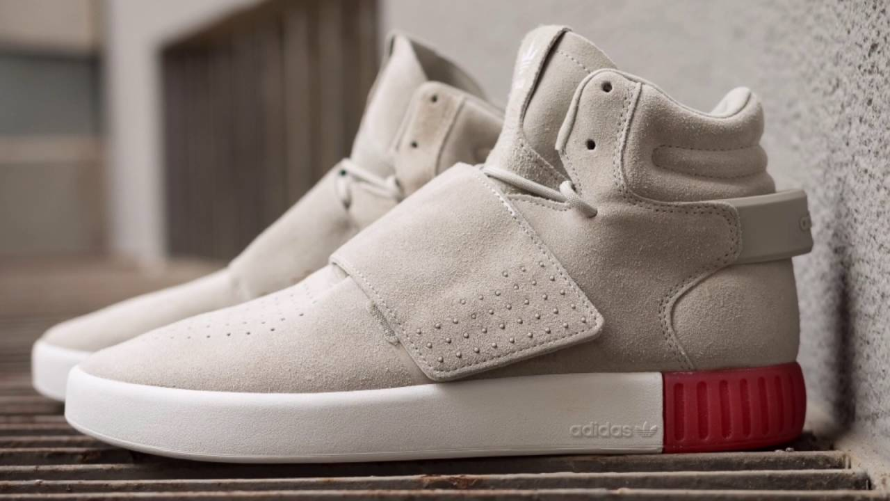 Red Tubular Invader Strap Lifestyle Shoes adidas US