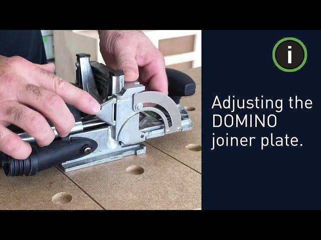 Festool Training: Adjusting the DOMINO joiner plate