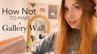 How Not To Make A Gallery Wall (also I'm directing dodie's next music video)