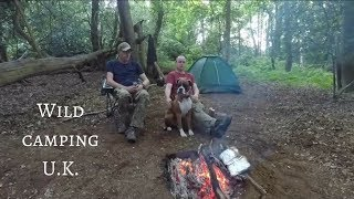 wild camping in the uk | camping with another You Tuber | camp fire lighting | camp fire cooking