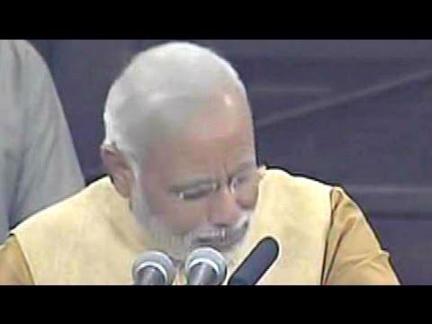 Narendra Modi's Emotional Speech in Parliament