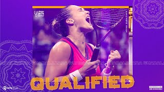 Aryna Sabalenka qualifies for the 2021 WTA Finals!