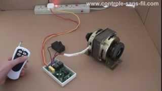 Comment changer la rotation du moteur monophasé électrique 220v avec seul un émetteur radio?